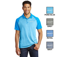 MENS SPORT-TEK RAGLAN HEATHER BLOCK POLO SHIRT