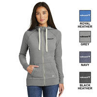 LADIES NEW ERA FULL ZIP HOODIE
